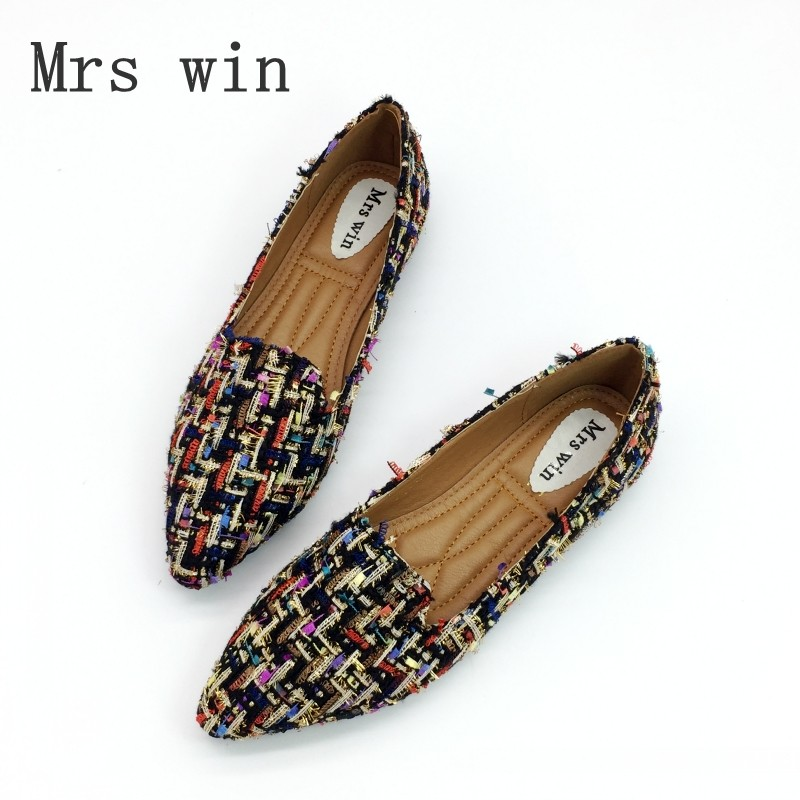Spring Autumn Women Ballet Flats Shoes for Woman Casual Loafers Single