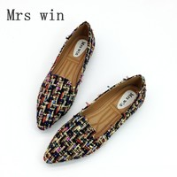 Spring Autumn Women Ballet Flats Shoes For Woman Casual Loafers Single Shoes Lady Soft Work Draving