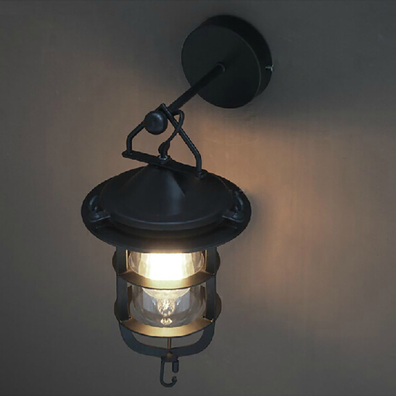 American country Retro vintage black industrial style indoor wall lamp E27 lights for restaurant hallway bedroom bar cafe american vintage wall lamp for indoor outdoor lighting retro industry wall lights with edison bulb for bedroom black 220v e27