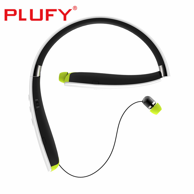 PLUFY Bluetooth Earphone Sport Wireless Headphones Noise Cancelling Neckband Headset with Mic for IPhone Android Support TF Card