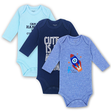 3 pieces/lot 100% Cotton Baby Rompers Newborn Clothing Body Baby Long Sleeve Underwear Infant Boys Girls Clothes Baby's Sets цены онлайн