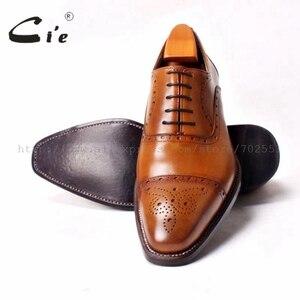 Image 5 - Мужские туфли броги ручной работы на шнурках cie, Кожаные Туфли оксфорды ручной работы коричневого цвета, OX290