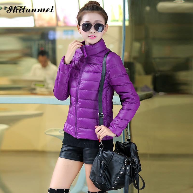 New Plus Size 3xl 4xl Fashion Solid Long Sleeve   Down     Coats   2018 Winter Female Streetwear Warm Slim   Coat   Doudoune Femme Hiver