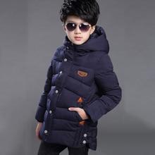 WENDYWU/Новое поступление, зимняя детская куртка и пальто для мальчиков, Новое поступление, верхняя одежда, детское пуховое пальто хлопковая верхняя одежда с подкладкой для мальчиков