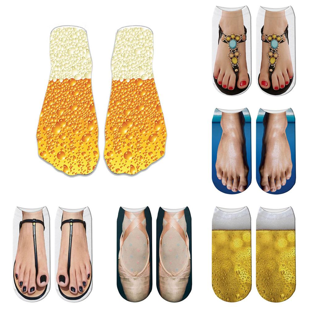 New Design Funny Fashion Harajuku Women Socks Novelty Beer Pattern Socks Hiphop Solid Cotton Cool Socks 5ZWS29