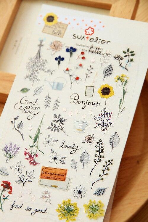 5 set /1 lot cute Korea Stationery Sonia Kawaii Secret Garden scrapbooking stickers/note sticker/message sticker/wholesale