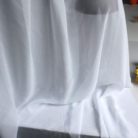 White Chiffon Fabric Sheer Bridal Wedding Dress Lining