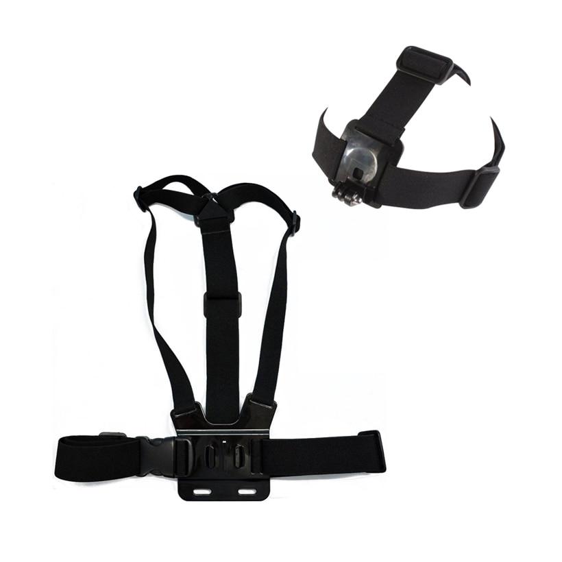 Head Harness Strap Mount & Chest Mont Ceinture Sangle pour Gopro HD Hero Hero 1 2 et Hero 3 caméras réglable (tête et sangle de poitrine)