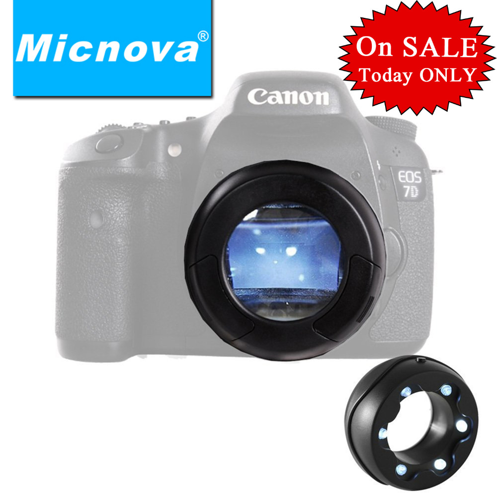 Micnova MQ-7X Lighted Cleaning Loupe SLR Sensor Loupe with CCD/CMOS Dust Illuminating Bright LED for DSLR Camera Camcorder micnova mq mb100 static electricity sensor 4 led light camera cleaning brush for canon nikon sony pentax slr lens cleaning pen