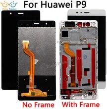 5.2 LCD için Çerçeve ile P9 Için Dokunmatik Ekran P9 EVA L09 EVA L19 Ekran Digitizer Meclisi