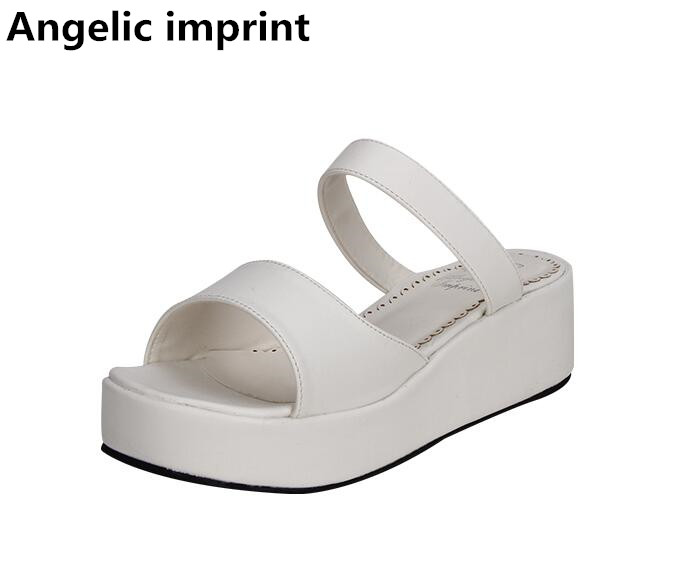 Empreinte Mori Talons Blanc Chaussures Pompes Sandales Mi Lady 5 Compensées Princesse Fille Femmes D'été Sandale Lolita Angélique Femme Cm Bagatelle gwqSEgdz