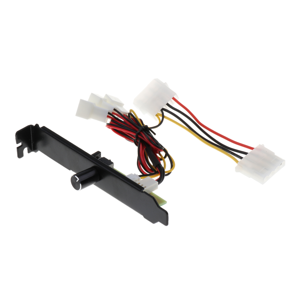 1 Piece PCI Fan Controller Bracket 3 Channels 3 Pin PC Cooler Cooling Fan Speed Controller PCI Bracket 3-12V For CPU/HDD/DDR/VGA