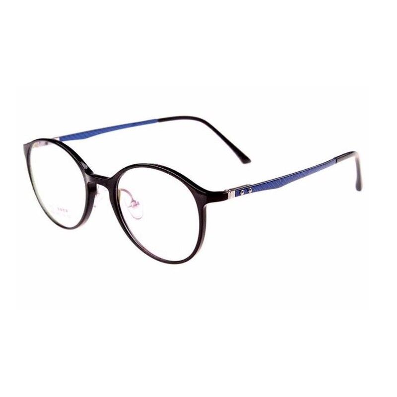 Width-134 Carbon Fiber Myopia Glasses Eyeglasses Frames Art Retro Round Tide Full Rim Computer Goggle Glasses Eyewear Glasses