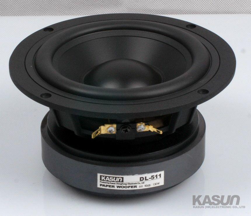 2 PZ Kasun DL-511 Midrange da 5 pollici/Midwoofer Driver Dell'altoparlante Grande Magnete Fusione di Alluminio Telaio Cono PP 8ohm 130 W Fs = 45Hz Dia146mm