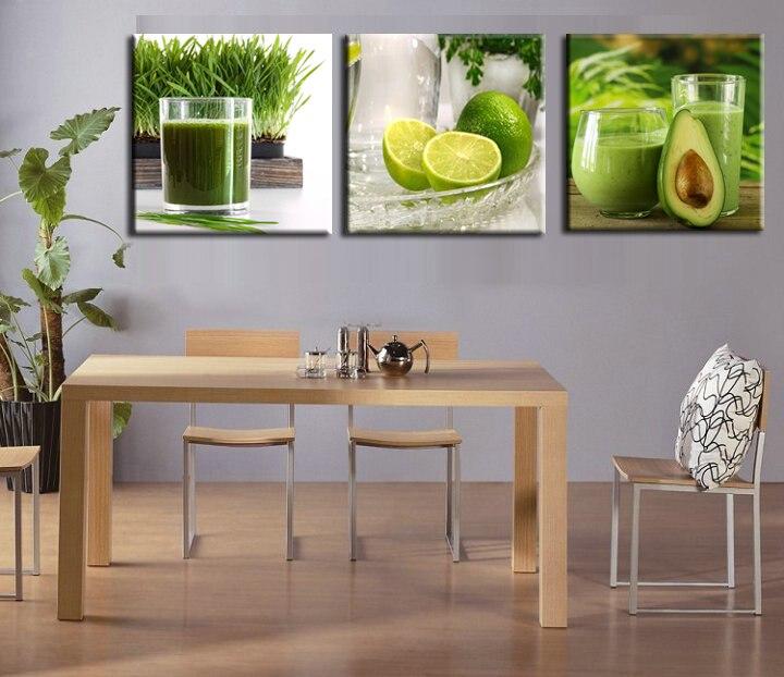 ᐂ3 panel Gran Muralla imágenes frutas lona cocina pintura imágenes ...