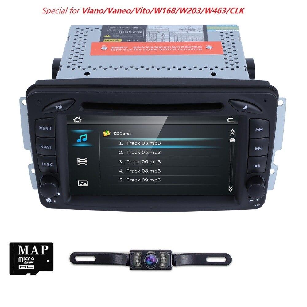2 Din 7 Inch Car DVD player For Mercedes Benz CLK W209 W203 W208 W463 Vaneo