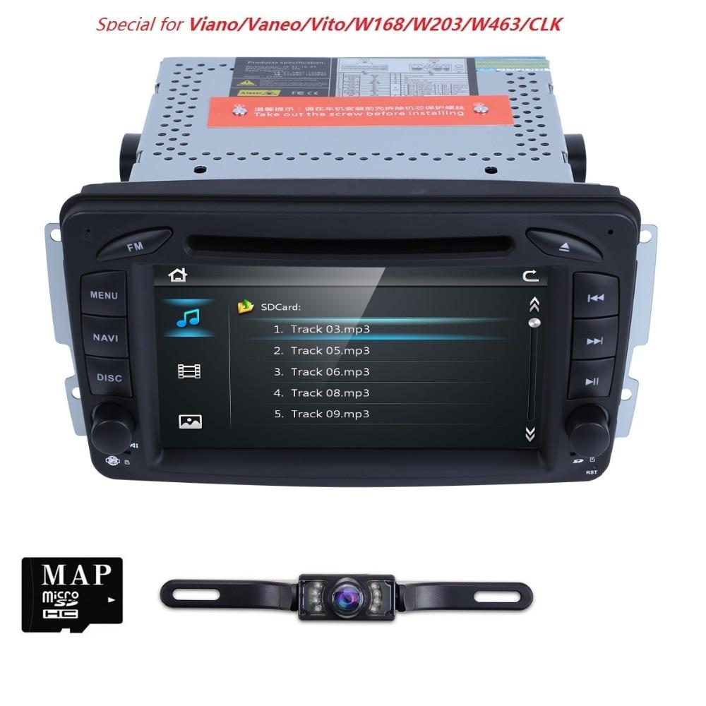 2 Din 7 インチ車の DVD プレーヤーのためにメルセデスベンツ CLK W209 W203 W208 W463 Vaneo でビアノヴィートとミラーリンク RDS 送料カメラ SD カード  グループ上の 自動車 &バイク からの 車用マルチメディアプレーヤー の中 1