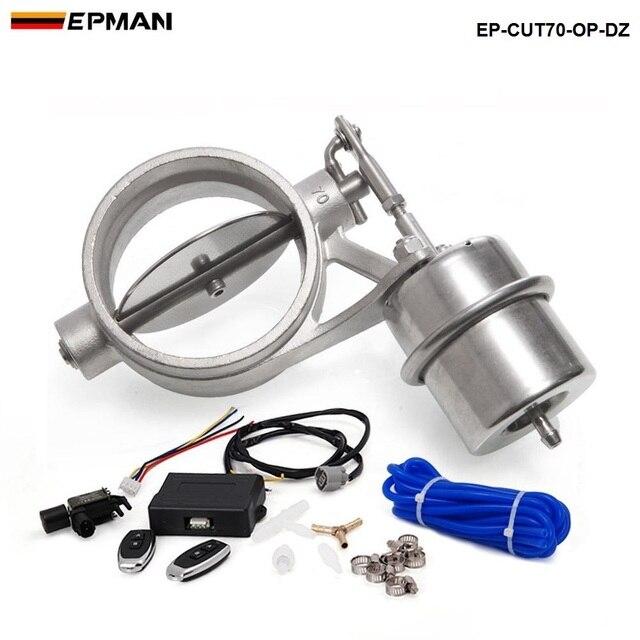 epman 70mm ouvert style vide d 39 chappement valve d coupe avec t l commande sans fil set pour bmw. Black Bedroom Furniture Sets. Home Design Ideas