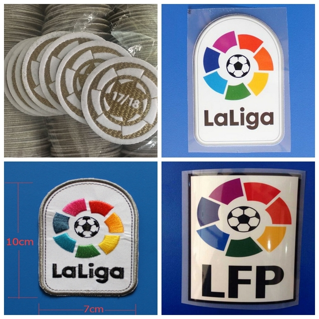 Bordado nuevo La Liga LFP champion patch imprimir parches insignias ... e90e57dde1ffb