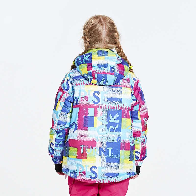 Профессии, детский лыжный костюм, для спорта на открытом воздухе ветрозащитные Термальность пальто для девочек кемпинг, катание на лыжах зимняя куртка для катания на сноуборде костюмы