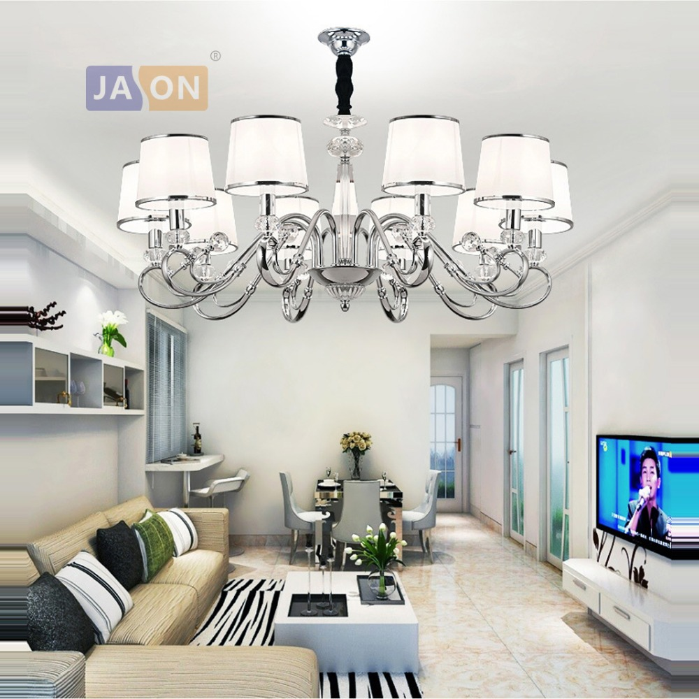 led e14 Postmodern Iron Fabric Crystal Chrome Chandelier Lighting Lamparas De Techo Suspension Luminaire Lampen For Bedroomled e14 Postmodern Iron Fabric Crystal Chrome Chandelier Lighting Lamparas De Techo Suspension Luminaire Lampen For Bedroom