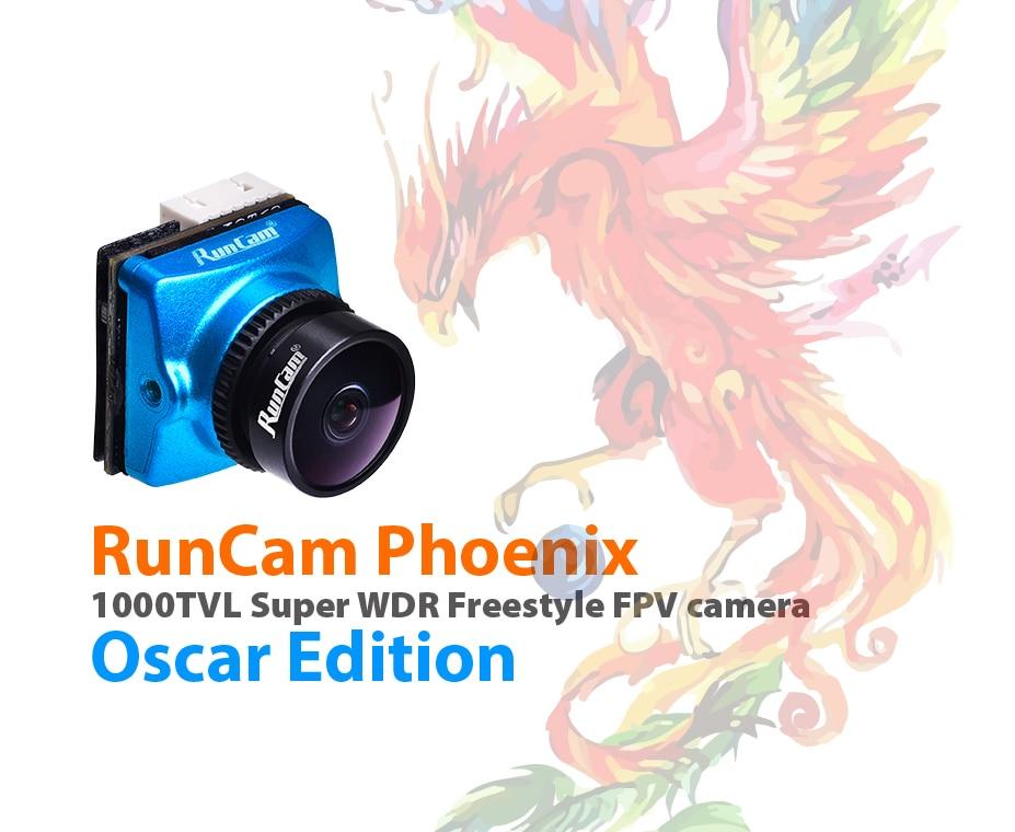 RunCam Phoenix Oscar édition 1000TVL caméra FPV 2.5mm objectif 1/3 & quot 120dB capteur WDR NTSC/PAL commutable pour Drone de course FPV
