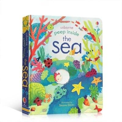 Peep interior del mar inglés educativo 3D Flap libros de fotos bebé niños libro de lectura