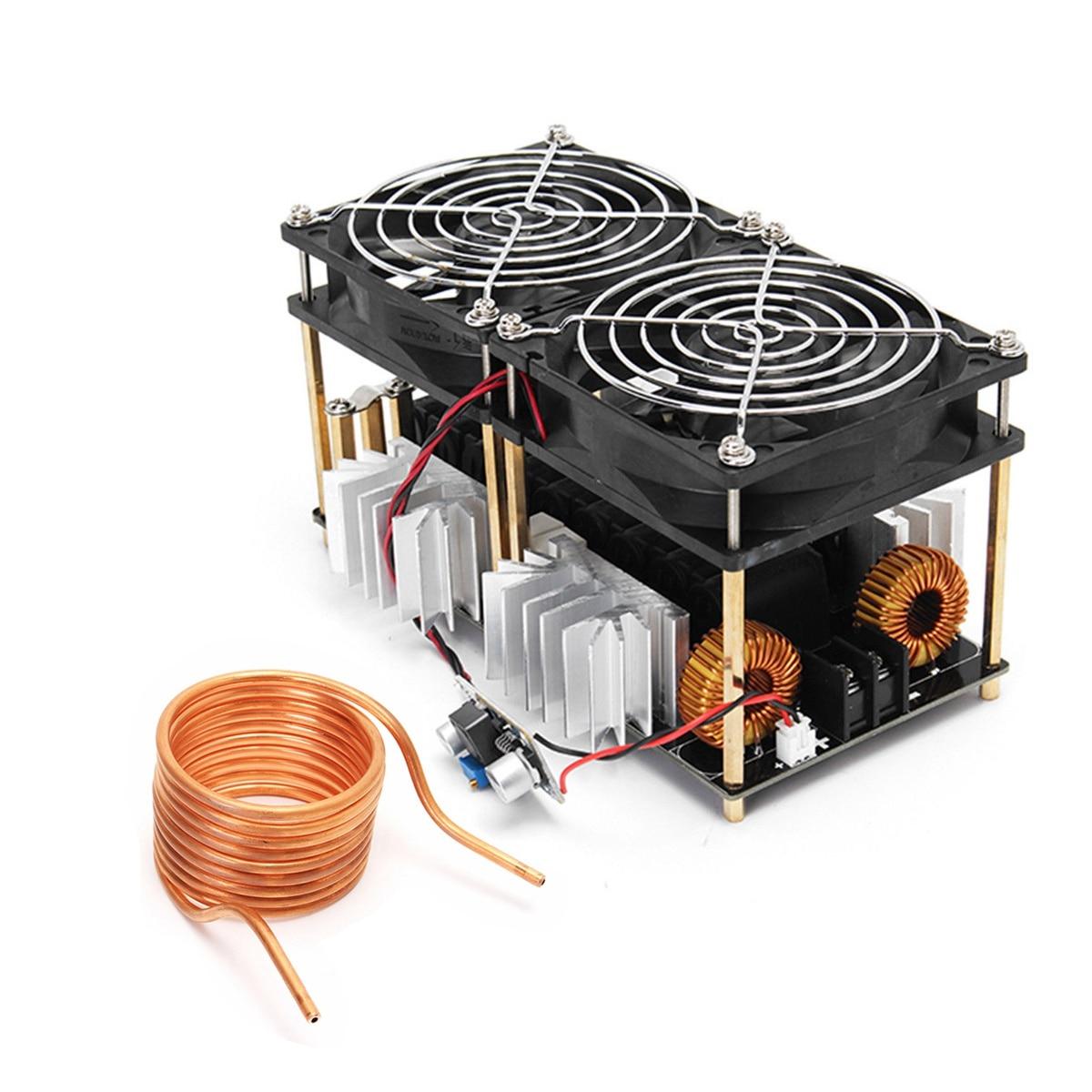 HOT-1800W ZVS Induction Heating Board Module Flyback Driver Heater+Tesla coil+fan цена