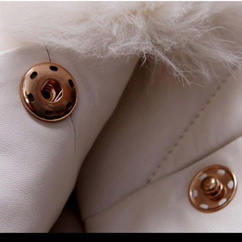 Femelle Chaud Fourrure Faux Parkas Femmes black De Nouvelles Pu À Manches Hiver Vison Vestes White violet Occasionnel Longues Mode Cuir Manteau Lyl127 2017 Dames xSfq07wUZ