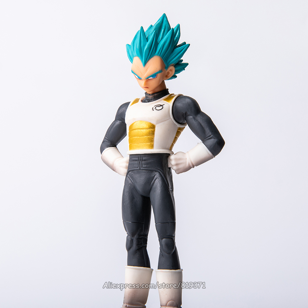 Dragon Ball Super Saiyan God SSJ Blue Vegeta PVC Action <font><b>Figure</b></font> Toys Dolls Brinquedos Figurine DBZ Model Gift <font><b>DragonBall</b></font> Z image