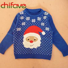 2016 Autumn New Children Clothing Boys Girls Long Sleeve O-neck Sweater Christmas man Carton Sweater For Kids Boys Girls