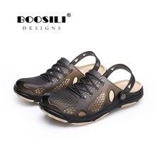 2019 Real Sandals Men Sandal Men's Ventilationshoes Double Color Garden High Quality Breathable Clogs Lightweight 3 Colours reef men s real tree phantoms thong sandal