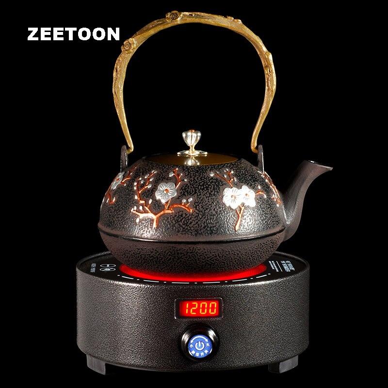 Японский вместительный заварочный чайник, умная электрическая плита, бутики, чайник, чугунный чайник, Kong Fu, чайный пуэр, кофейник