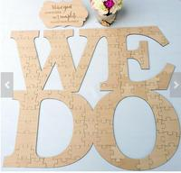 Custom WE DO Rustic Puzzle Wedding Day Guest Books Alternative Hearts Wooden Guestbooks Reception Party Favors
