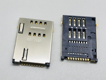 Big SIM Card PC Computer 6/7/8/9PIN MUP LCN Push-push Patch Type Laptop Panel Tablet GPS Socket Connector Mainboard FPC FFC image
