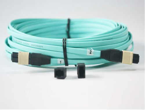 1 Meters MPO/MTP(Female) MPO(Female) OM3 8strands Fiber optical cable for QSFP+SR module