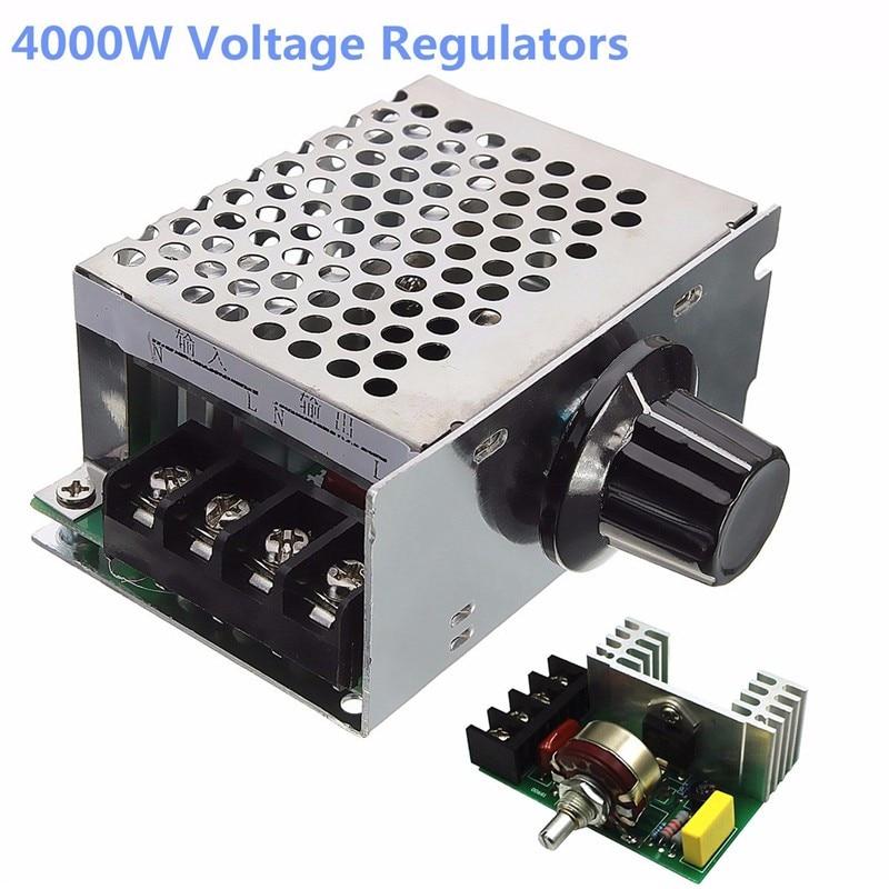 4000W 220V AC SCR Voltage Regulator Dimmer Electric Motor Speed Controller High Quality