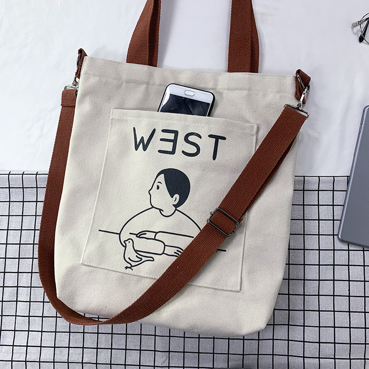 Fashion Women Shoulder Bags 2019 Brand New Cartoon Print Messenger Bags Female Casual Soft Zipper Canvas Crossbody Bags Handbags