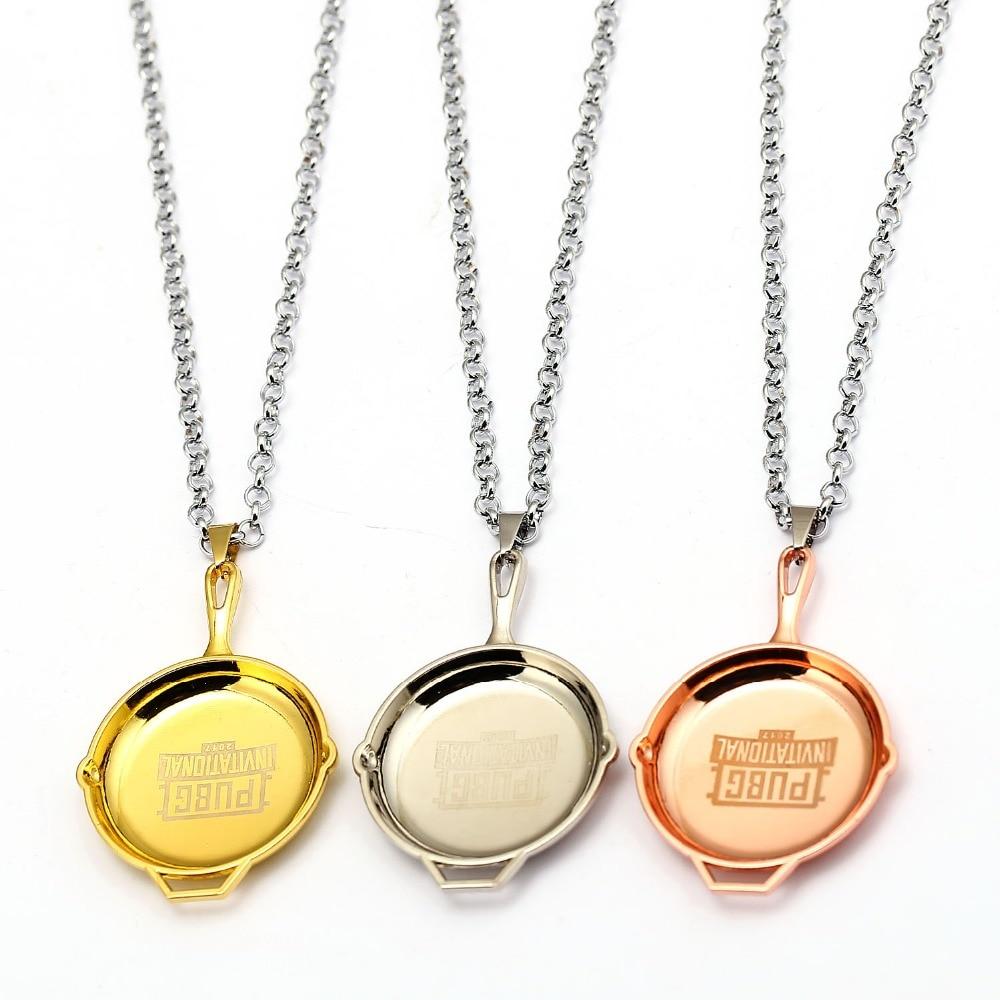 New Playerunknowns Battlegrounds Necklace PUBG Metal 3 Colors Pan Pendant Men Birthday Gift Souvenir Jewelry Choker Colar Kolye