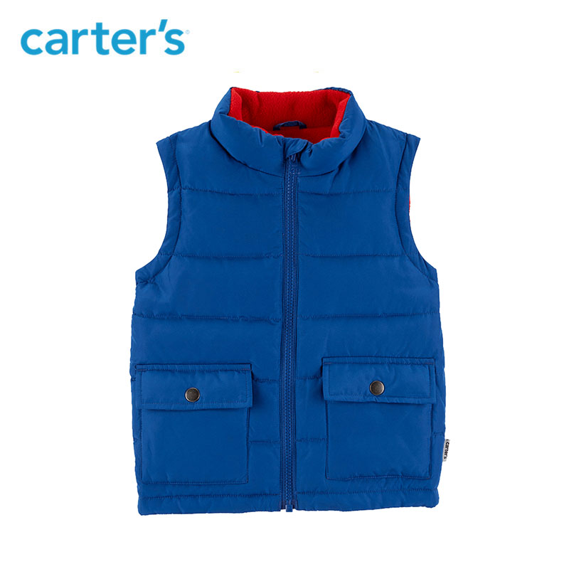 Carters Down vest baby boy clothes solid zip up soft warm baby vest autumn winter baby clothing CL218662/CL218672/CL218682 костюм carters