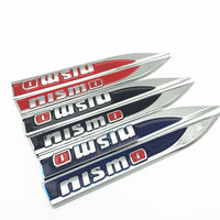 car sticker 2PCS/lot nismo logo Emblem Badge Decals Metal Fender Side Car Sticker for Nissan Tiida Teana Skyline Juke X-trail Almera (2)