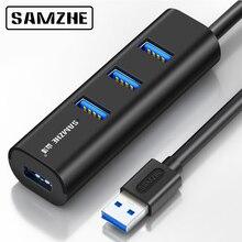 SAMZHE Super Speed USB 3.0 HUB 4 Port Hub Portatile Desktop USB di Estensione per iMac, MacBook, macBook Air, Mac Mini, o PC