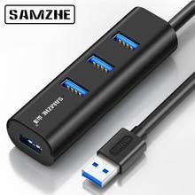 SAMZHE Super Speed USB 3.0 HUB 4 Port Portable Hub Desktop USB Extension for iMac, MacBook, MacBook Air, Mac Mini, or PC