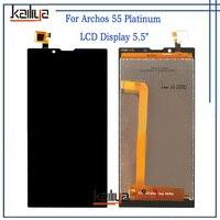 ل Archos 55 البلاتين شاشة هاتف LCD المحمول مع 5.5 بوصة الأسود مجموعة المحولات الرقمية لشاشة تعمل بلمس استبدال ل 55 البلاتين|شاشات LCD للهاتف المحمول|الهواتف المحمولة ووسائل الاتصالات -