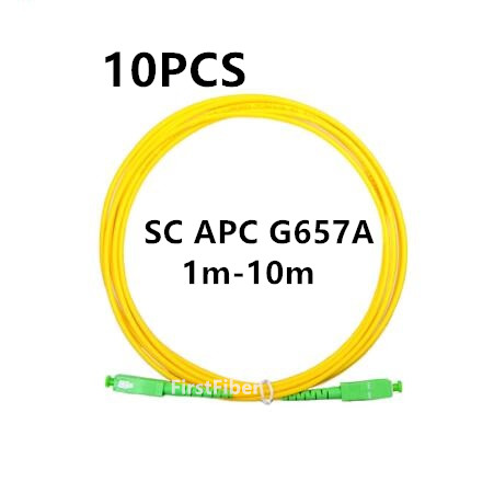 10PCS SC APC Simplex mode fiber optic patch cord Cable SC APC 2.0mm  FTTH fiber optic jumper cable 1m 2m 3m 5m 10m10PCS SC APC Simplex mode fiber optic patch cord Cable SC APC 2.0mm  FTTH fiber optic jumper cable 1m 2m 3m 5m 10m