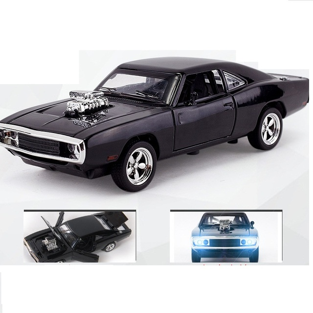 1:32 Alloy 1970 Dodge Chargers R/T Fast and Furious 7 Kids Toy Challenger Pull Back Sports Diecast Car Collection In Stock