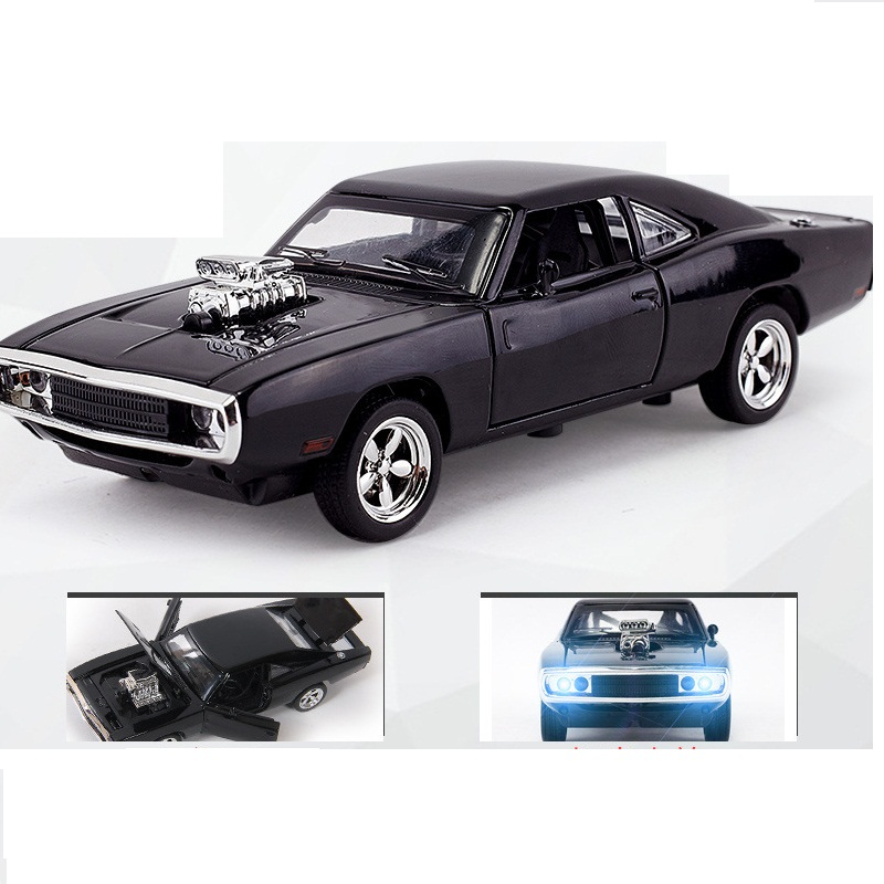 YUKALA 1:32 Alloy R / T Fast and Furious 7 Kinder Toy Challenger Pull Back Sports Diecast Car Collection Voorradig