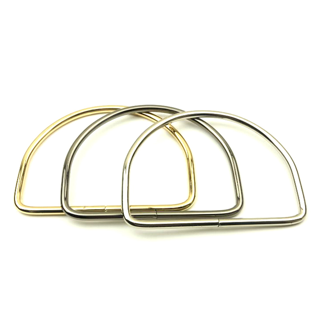 7b7a03ff8405f Light gold bag handle 11 cm ( inner diameter ) metal luggage hardware  accessories big D hand Ring