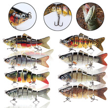 6 Sections Sea Baits Hard Bait Lures 10cm 30g Shallow Simulation Color Multi-section Lure