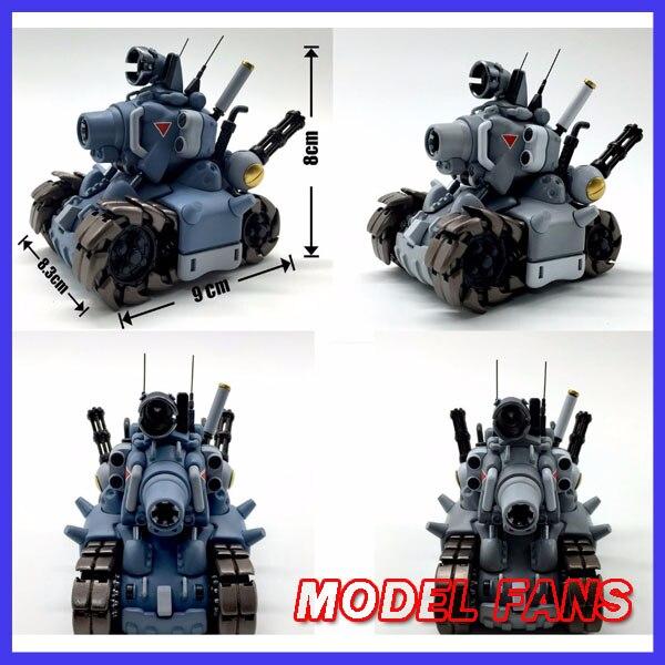 Modèle FANS en stock vidéo jeu d'ordinateur métal limace 1:35 modèle de réservoir figurine d'action avec armes Mini Collection mignonne